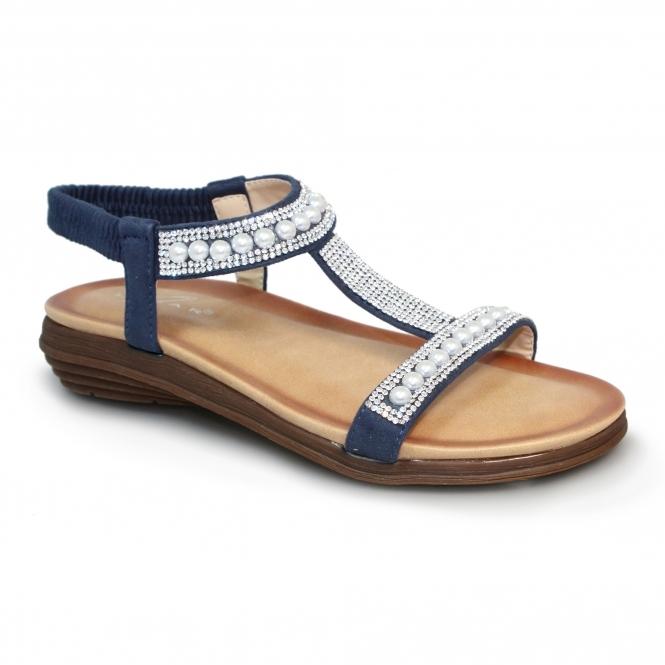 JLH078 Tancy 'T' Bar Pearl Sandal
