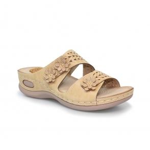 JLH058 Monaco Slip On Flower Sandal