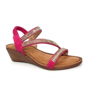JLH073 Sofia Cross Strap Sandal