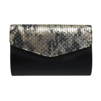 ZLR441 Avril Metallic Clutch Bag