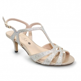 FLR524 Francie Wide Fit Gemstone Sandal