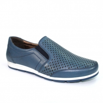 FLT005 Cora Perforated Leather Shoe