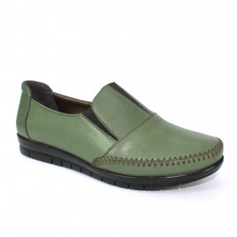 FLT008 Lilly Leather Slip On Loafer