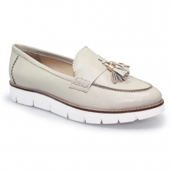 FLH665 Levato Leather Wedge Moccasin