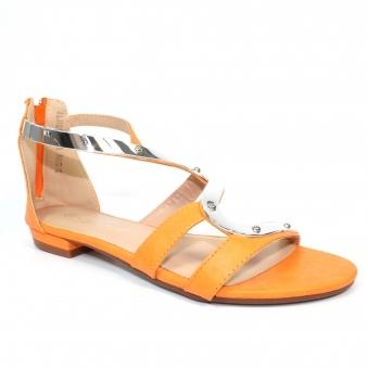 70b7cd1bc11 Orange Size: 8 UK Lunar Sandals