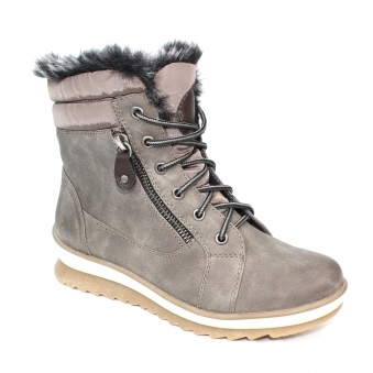 GLB003 Amelia Faux Fur Lace Boot