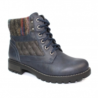 GLB014 Chariot Quilted Ankle Boot