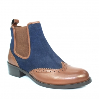 GLH548 Alexandria Brogue Ankle Boot