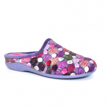 KLA096 Crackle Slip On Slipper