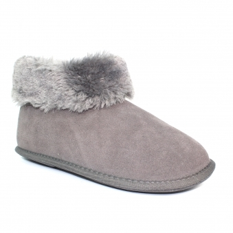KLD401 Cardi Bootee Suede Slipper