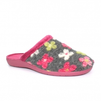 KLZ037 Tiffin Flower Slip On Slipper