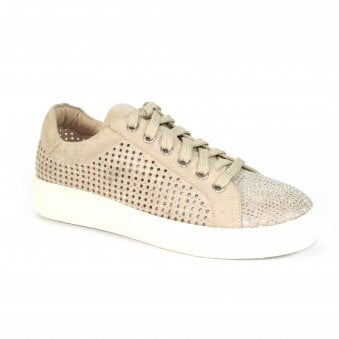 FLM007 Norway Rhinestone Lace Up Trainer