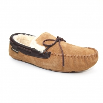 KMG134 Game Suede Moccasin Slipper