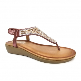 JLH140 Trina Diamante Toe Post Sandal