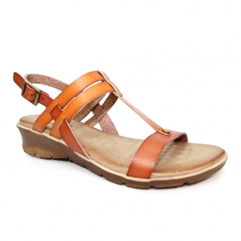 JLH159 Mona 'T' Bar Low Wedge Sandal