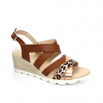 JLY172 Ollie Strappy Wedge Sandal