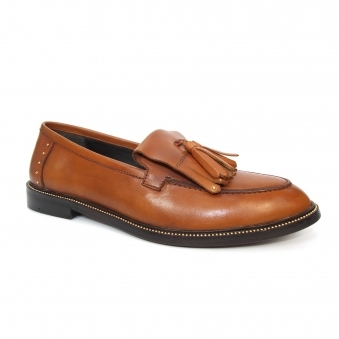 FLG012 Auburn Leather Loafer
