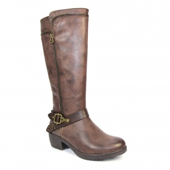 GLB038 Abel Heeled Long Boot