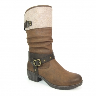 GLB054 Hadley Felt Trim Long Boot