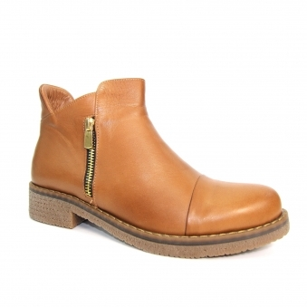 GLR002 Steffi Leather Zip Boot