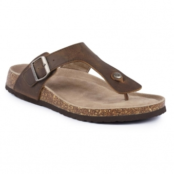 JMD001 Mens Samson Brown Leather Sandal