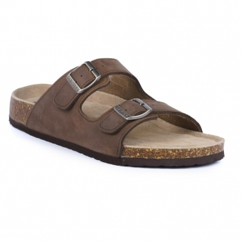 JMD002 Mens Milo Brown Leather Mule Sandal